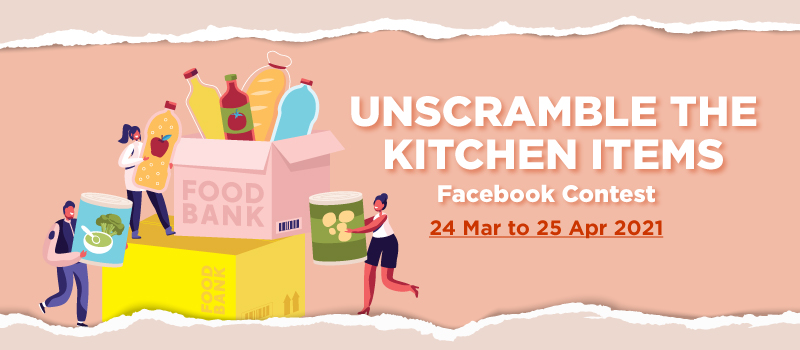 Unscramble the Kitchen Items Facebook Contest